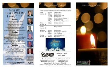 Dec 23, 2012 - Woodland Hills Baptist Church