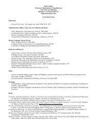 Link to Curriculum Vitea - UCLA Academic Senate