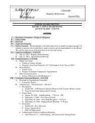 August 10, 2010 - Agenda - School District of Waupaca