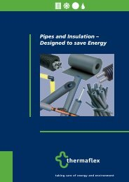 Pipes and Insulation – Designed to save Energy - thermaflex