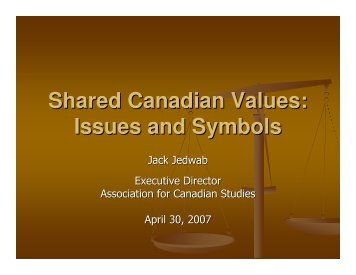 Shared Canadian Values: Issues and Symbols - Willamette University