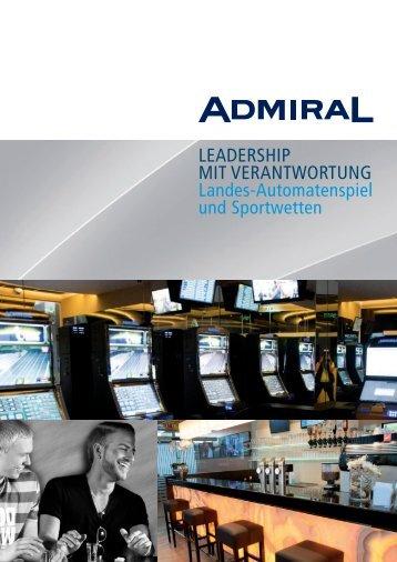 Landes-Automatenspiel und Sportwetten - Admiral-entertainment.at