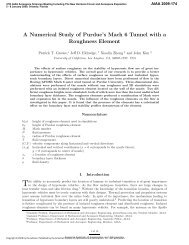A Numerical Study of Purdue's Mach 6 - AIAA - American Institute of ...