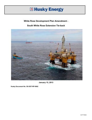 White Rose Development Plan Amendment - Canada ...