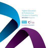 Higher Education & Professional Studies in Coventry - Study in the UK