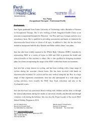 e30a6b63d488 Inez Ngiau Professional Profile - Perth Integrated Health