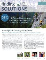 findingSOLUTIONSapr2013.pdf - David Suzuki Foundation