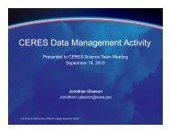 CERES Data Management Activity - Megha-Tropiques