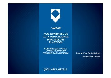 VIMCOR AÇO INOXIDÁVEL DE ALTA ... - Villares Metals