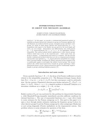 Hypercontractivity in group von Neumann algebras - ICMAT