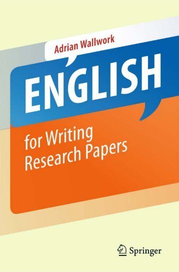 2011 English for Writing Research Papers