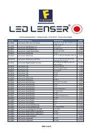 Fachhandelspreisliste - Fischer Art of Light and Sound GmbH