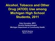 Presentation on ATOD Use Among MI H.S.Students 2011 by Katy ...
