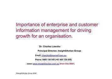 Importance of information management