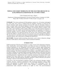 modal expansion modeling of the electro-mechanical