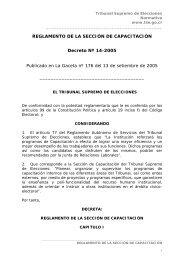 Sección de Capacitación - Tribunal Supremo de Elecciones