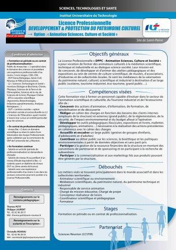 Licence Professionnelle - Université de la Réunion