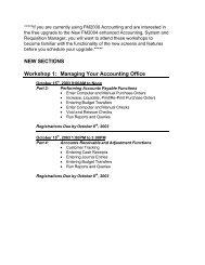 Details on Workshop Additions