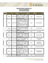 convocatoria interna 2013 lista de elegibles 12 de julio de 2013