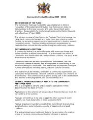 Criteria 2009 - Castlereagh Borough Council