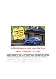 Descarcă lista de preţ în format PDF pentru modelul SEAT LEON