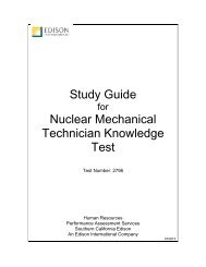 Nuclear Mechanical Technician (Test 2796) - Edison International
