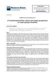A Transformational Role:Donor and Charity Perspectives on ... - QUT