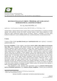 Restrukturalizace firem - EEIP, as