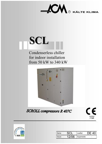 catalogo DE40 rev.01 07 - Chiller
