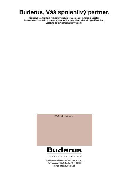 Montážní návod - Buderus