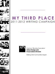 MY THIRD PLACE - American Planning Association