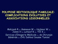 POLYPOSE RECTOCOLIQUE FAMILIALE: COMPLICATIONS ...