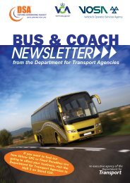 Bus & Coach Newsletter - Driving, transport and travel