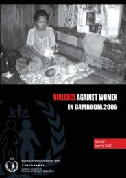 Report: Violence Against Women in Cambodia 2006 - Licadho