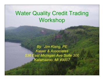 Water Quality Credit Trading Workshop