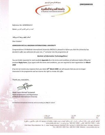 Thank you, wassalam, Shadi Yasin Ahmad Tarawneh - Al-Madinah ...