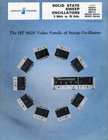 HP 8620 Family Technical Datasheet June 1972 ( PDF, 6.6 Mo )