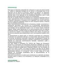 PRESENTACION Para lograr el desarrollo sustentable de la ... - OTCA
