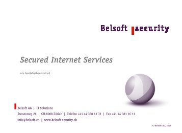 Security im Outsourcing - Belsoft AG