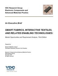 smart fabrics, interactive textiles, and related ... - VDC Research
