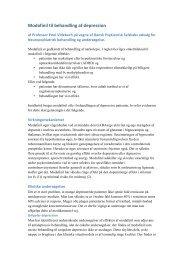 Modafinil til behandling af depression - Dansk Psykiatrisk Selskab