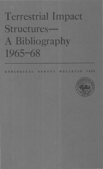 Terrestrial Impact Structures A Bibliography 1965-68