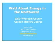 Watt About Energy in the Northwest - WSU Whatcom County Extension