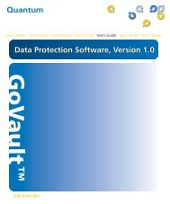 GoVault Data Protection Software, Version 1.0 User's Guide - MaxData