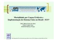 Mortalidade por Causas Evitáveis e Implementação do ... - Epi2008