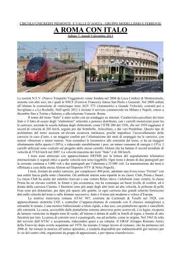 A ROMA CON ITALO - CRAL Unicredit