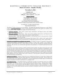 November 6, 2012 Regular Meeting - Hartnell College