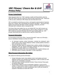 Privacy Policy - Cheers Bar and Grill