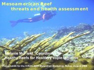 Mesoamerican Reef, Threats and Health Assessment