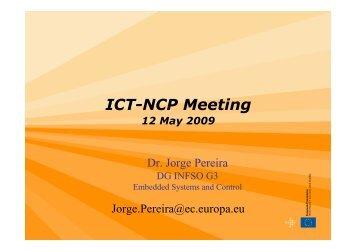 ICT-NCP Meeting - RTD